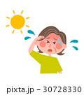 熱中症の高齢女性 30728330