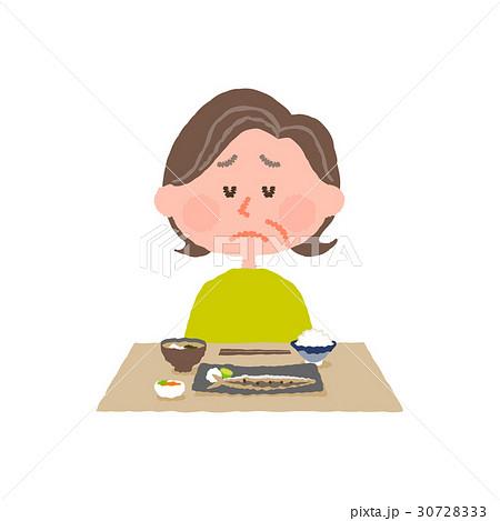 食欲がない高齢女性 30728333