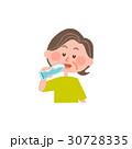 高齢者 女性 水のイラスト 30728335