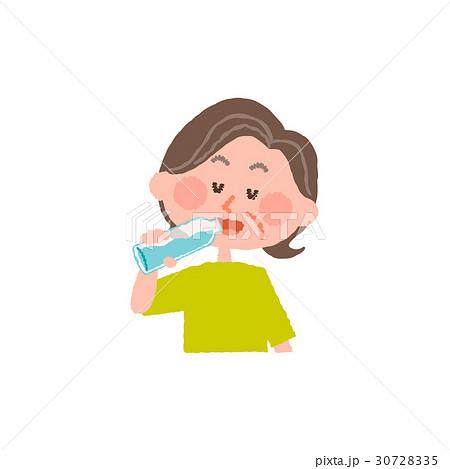 水を飲む高齢女性 30728335