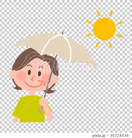 日傘をさす高齢女性 30728336