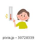 気温をチェックする高齢女性 30728339