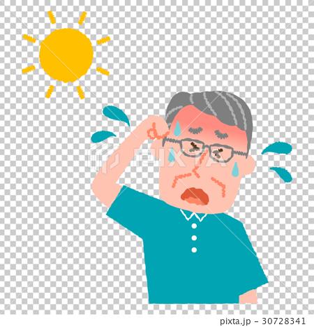 熱中症の高齢男性 30728341