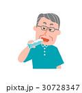 高齢者 男性 水のイラスト 30728347