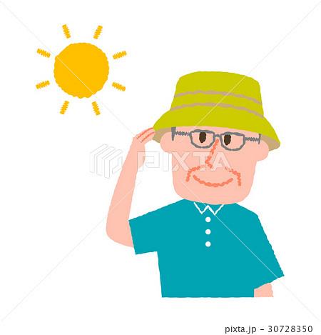 帽子をかぶる高齢男性 30728350