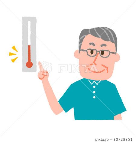 気温をチェックする高齢男性 30728351