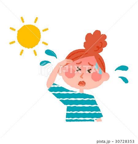 熱中症の女性 30728353