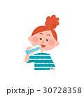 女性 熱中症対策 水のイラスト 30728358