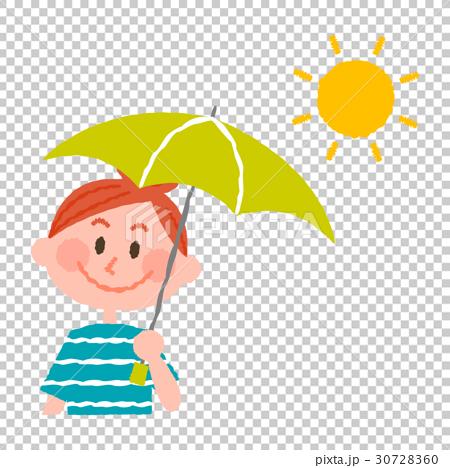 日傘をさす女性 30728360