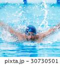 スイマー キャップ 泳ぐの写真 30730501
