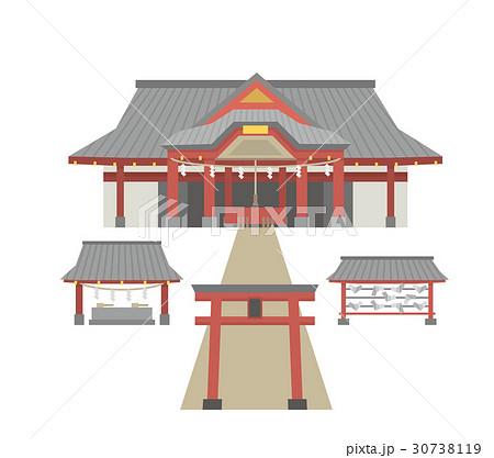 神社建物シリーズのイラスト素材 30738119 Pixta