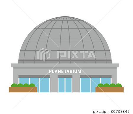 プラネタリウム【建物・シリーズ】のイラスト素材 [30738345