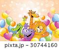 動物 風船 気球のイラスト 30744160