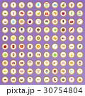 100 100 お菓子のイラスト 30754804