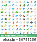 100 water recreation icons set, isometric 3d style 30755266