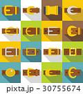 ベルト バックル アイコンのイラスト 30755674