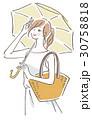 日傘 女性 30758818