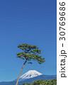 富士山 晴れ 青空の写真 30769686