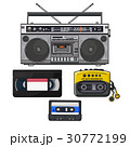 Retro audio cassette, tape recorder, music player 30772199