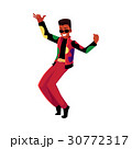 Black, African man, guy in 1980s style clothes 30772317