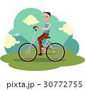 自転車 人 古いのイラスト 30772755