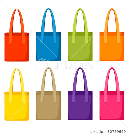 colored bags templates set of promotional giftsのイラスト素材