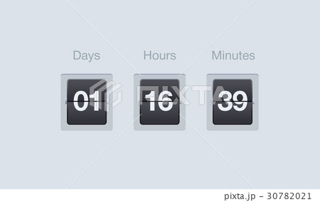 vector flip countdown timer clock counter forのイラスト素材
