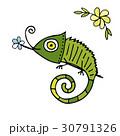 Chameleon cartoon, sketch for your design 30791326