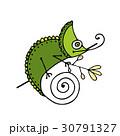 Chameleon cartoon, sketch for your design 30791327