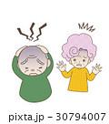 シニア夫婦 激しい頭痛に襲われる夫 びっくりする妻 30794007