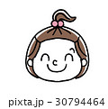 女の子の表情:笑顔 30794464