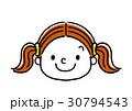 女の子の表情:笑顔 30794543