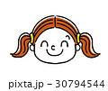 女の子の表情:笑顔 30794544