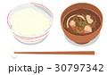 ごはんと味噌汁 30797342