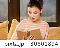 女性 読書 ブックの写真 30801894