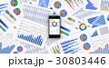 グラフ データ ビジネスのイラスト 30803446