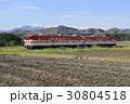 新緑の磐越西線と残雪の飯豊連峰 30804518