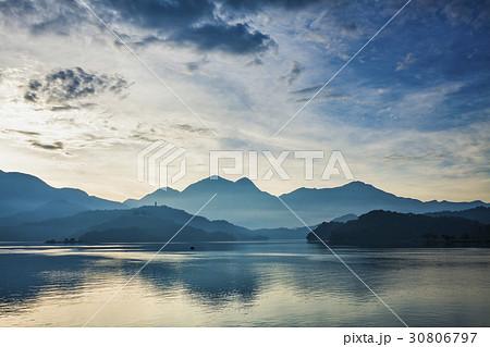 Scenery of Sun Moon Lake in Taiwan, Asia. 30806797