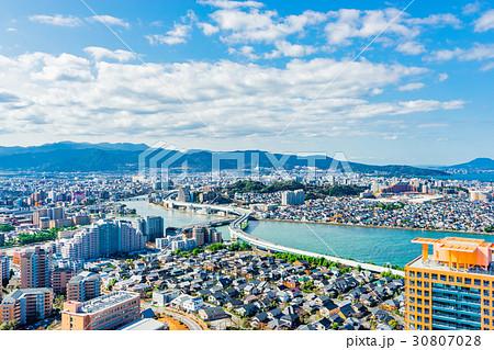 【福岡県】地方都市風景 30807028