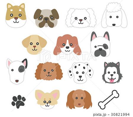 犬の顔イラストのイラスト素材 30821994 Pixta