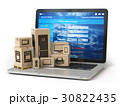 Cardboard boxes with appliaces on PC  laptop  30822435