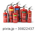 Fire extinguishers isolated on white background 30822437