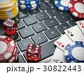 Casino online. Gambling chips, cards and dice  30822443