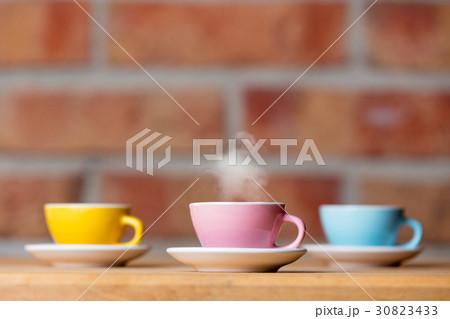 cups of hot coffeeの写真素材 [30823433] - PIXTA