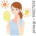 スキンケア 日焼け 紫外線のイラスト 30827929
