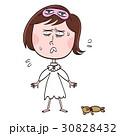 睡眠不足 女性 焦るのイラスト 30828432