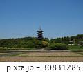 新緑の備中国分寺五重塔(横位置) 30831285
