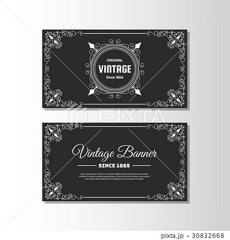 vintage flyer background design templateのイラスト素材 30832668