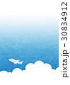 空 青空 飛行機のイラスト 30834912