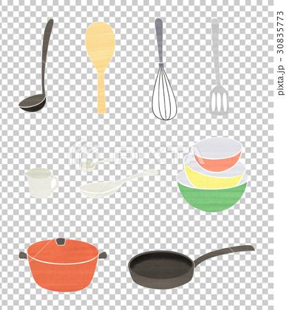 手繪廚房設備設置顏色 30835773